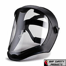 UVEX S8500 BIONIC DIELECTRIC SAFETY FACE SHIELD BLACK FRAME CLEAR Z87.1 GRINDING