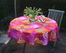 Mantel PROVENZA 160cm redondo Fucsia FLORES DE FRANCIA, fácil de cuidar
