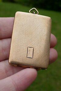Vintage Deco Gold Filled Watch Fob Stamp Holder / Case - 18.4 Grams
