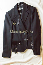 Authentic ICEBERG Black 100% Wool Jacket size XS. Made in Italy.