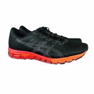 Asics Gel Quantum 180 4 Mens 12 Black Red Orange Running Shoes 1021A104