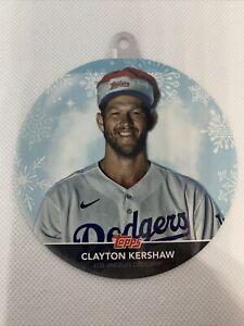 2020 Topps Holiday Mega Clayton Kershaw Ornament Card  #WHO-CK