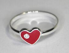 925 ECHT SILBER *** Kinder Ring Kinderring Herz rot
