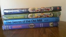 VINTAGE CHILDREN'S BOOKS~INCLUDING HAPPY HOLLISTERS~4 VOLUME SET~RARE
