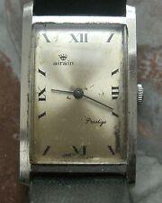 AIRAIN SUISSE ancienne montre bracelet boitier chromé