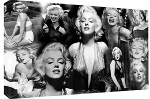 LARGE MARILYN MONROE 100% COTTON CANVAS PICTURE COLLAGE WALL ART - ALL SIZES