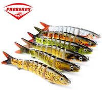 5pcs Multi Jointed Fishing Lures Sinking Wobblers Swimbait Crankbait Hard Bait