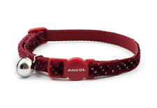 ANCOL VELVET SPARKLE SAFETY RELEASE CAT COLLARS - Single or Multiple Option