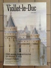 Affiche Eugène Viollet-le-Duc