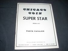 Chicago Coin Super Star #453 Pinball Parts Manual Original Complete 1975 30 pgs