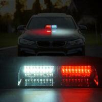 16LED Red White Car Truck Warning Emergency Strobe Light Flashing Dash Lamp