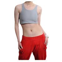 Lesbian Tomboy Les Breathable Chest Binder Short Vest Tank Undershirt New Hot