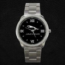 Jaguar Logo Silver Xk Xj Custom Metal Watch Unisex Wriswatch