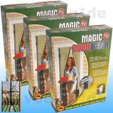 3x Türvorhang mit Magneten Magnetvorhang Insektenvorhang Fliegennetz Zebra-Look