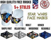 STAR WARS Face Masks Adult Reusable Yoda Darth Vader Storm Trooper Galaxy