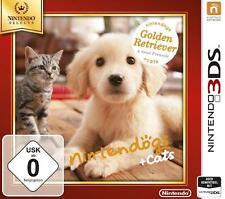 Nintendo 3DS Selects NINTENDOGS 3D GOLDEN RETRIEVER + KATZEN FREUNDE DEUTSCH Seh