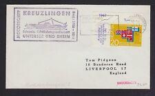 SWITZERLAND 1956/66 SHIP THURGAU & KREUZLINGEN MOTORSCHIFF COVERS TO GERMANY/UK