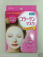 DAISO JAPAN COLLAGEN FACE MASK 1 PACK (25ml * 3 SHEETS) MADE IN KOREA