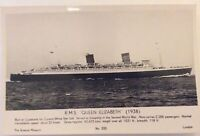Cunard White Star RMS Queen Elizabeth Real Photo Postcard