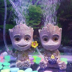 Groot Tree People Shape Aquarium Air Bubble Stone Oxygen PumpFish Tank Ornament