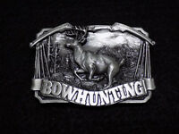 1983 Bowhunting Solid Pewter Belt Buckle