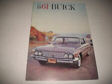 1961 FULL SIZE BUICK PRESTIGE SALES BROCHURE CDN VERSION LeSABRE INVICTA ELECTRA