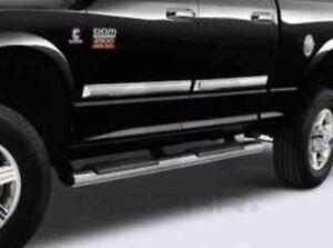 "10-12 Dodge Ram 2500 3500 New Chrome Tubular Side Steps Mega Cab 5"" Oval Mopar"