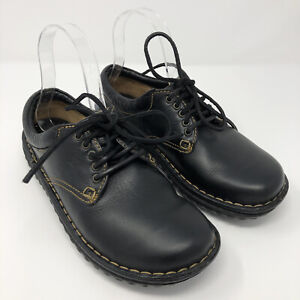 Born Womens Oxford Casual Comfort Leather Shoes Size 8 Lace Up Round Toe Black