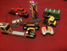 LEGO Red Cargo Train 99% Complete