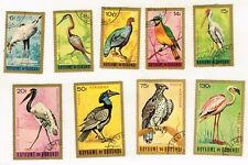 Burundi African Fauna Birds stamps set 1963 Airmail
