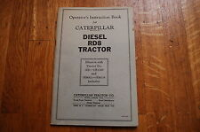 CAT Caterpillar RD8 Tractor Dozer Crawler Operation Operators Manual owner book