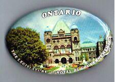 Ontario Legislature Building Pinback Button French Canada Government Advertising