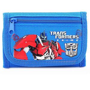 Transformers Prime Blue Tri-Fold Wallet Coin Purse Bag (1pc)