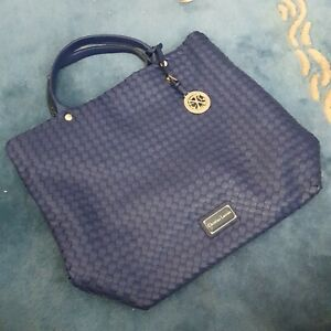 BLUE WEAVED CHRISTIAN LACROIX TOTE BAG LARGE LIGHT LINED