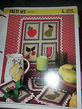Plastic Canvas Fruit Set pattern