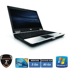 "HP ELITEBOOK 2530P 12.1"" C2D 3Go HDD 80Go WINDOWS 7 PRO 32 Bits"