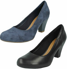 Clarks Block Court Suede Shoes for Women