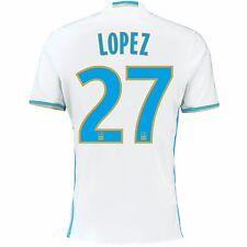 Adulte S Olympique de Marseille Home Shirt 16/17 Lopez 27 MA2