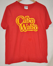 CABO Wabo SAMMY HAGGAR Tequila RED Yellow WOMEN'S Sz L T-Shirt GRAPHIC Tee CLEAN