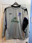 Official Everton 05/06 Umbro Retro Long Sleeve Away Jersey - XL