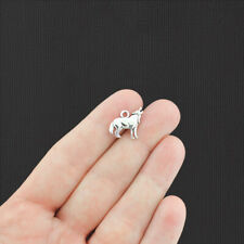 20 Wolf Antique Silver Charms 2 Sided - SC8063