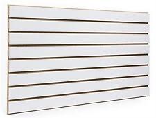 4' X 8' White Color Slatwall Panels
