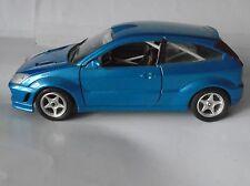 Ford Focus Metallic Blue RS Rally Spec Interior Italian Bburago Model 1/24