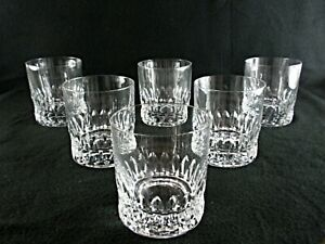 Rare Antique BACCARAT Flawless Crystal 6 x Whiskey Tumbler w/ Deep Panel Cut