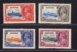 Barbados 1935 Silver Jubilee Set Sc 186-189