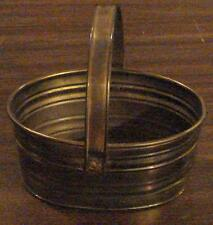 Gently Used Hand Crafted Solid Brass Small Size Decorative Basket, India Vgc