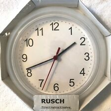 IKEA Wall Clock Clear White Battery-Operated Modern Home RUSCH Discontinued NEW
