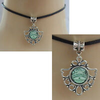 Ouija Board Choker Necklace Pendant Handmade Black Silver Spirit NEW Fashion