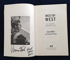 Jerry West signed book West by West Charmed Tormented Life LA Lakers basketball