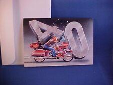 "brand new Harley-Davidson ""40th Happy Birthday Card"" with big touring bike shown"
